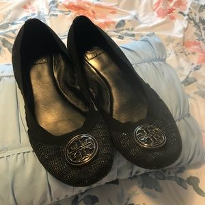 Authentic 10 Tory Burch Caroline Flats USED